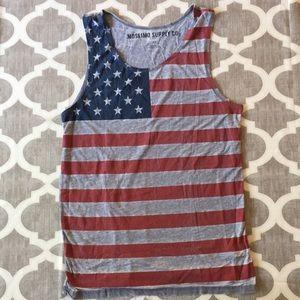 EUC American Flag Muscle Tank | Medium